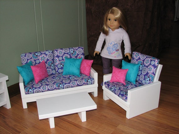 18 Inch Doll Furniture Set For American Girl Doll Loveseat