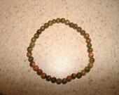 Semi Precious 4mm Green Ukaite Bracelet
