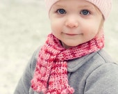 Little Bobble Scarf (child's scarf knitting pattern)