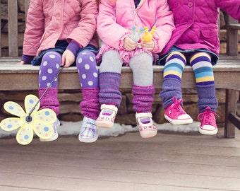 Playground Warmers (children's leg warmer knitting pattern)