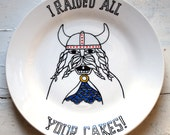 Viking Cake Raider - Hand Drawn Plate
