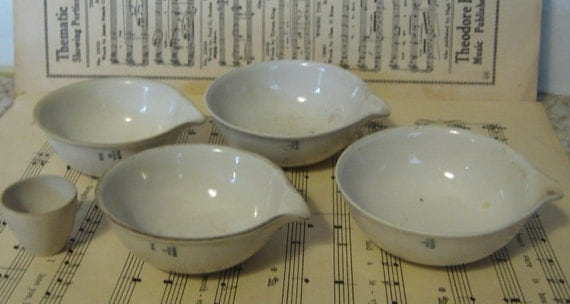 VIntage Collection of Ceramic Science Lab Dishes by Coors Ceramics