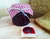 Natural Homemade Raspberry Jam HALF Pint Jar