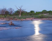 PHOTO River Moonbeam Texas Landscape Photography - Evening