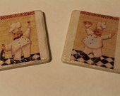 Customized Chef Tile Coasters