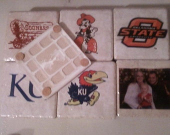 Set of Four Customized Photo Coasters