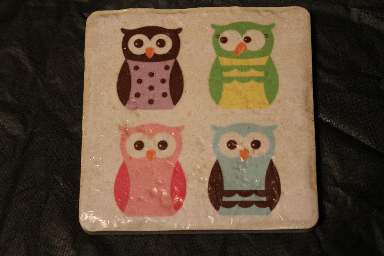 Cute Owl Tile Coasters By Brainiac512 On Etsy