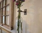 Wine Bottle Wall Vase - Clear