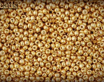 Gold Seed Beads Gold Toho beads Size 11 TOHO Toho seed beads TR-11-PF557 Permanent Finish Opaque 11/0