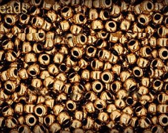 8/0 TOHO seed beads 17g Toho beads 8/0 seed beads Bronze 8-221