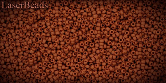 Seed beads TOHO 10g size 15/0 Opaque-Frosted Terra Cotta Nr. 15-46LF