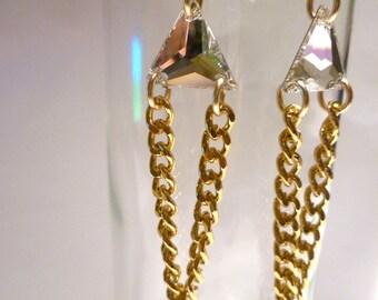 Crystal Drop Deco Earrings
