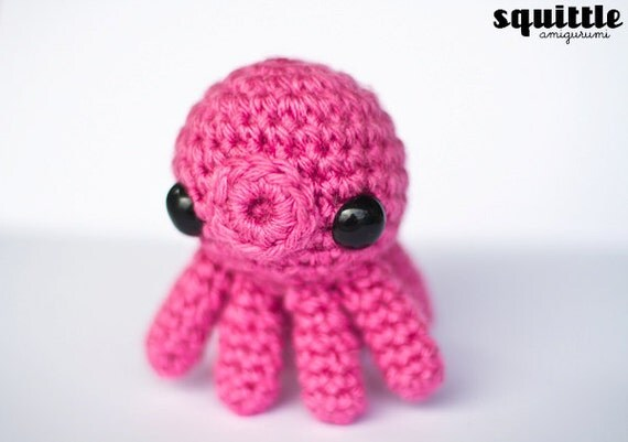 Octopus Amigurumi Plush : 20% off kawaii pink mini octopus amigurumi plush