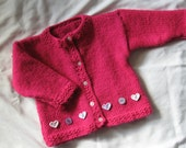Knitted Raspberry Pink Sweater (Size 18-24 Months)