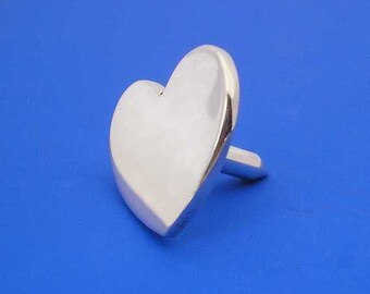 Silver Heart Golf Ball Marker , Hand Made Solid Silver