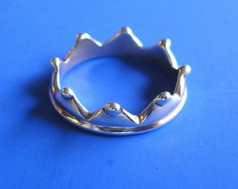 Silver Crown Ring , Hand Made Solid Silver , Silver Jewellery , Silver Jewelery