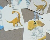 Dinosaur Gift Tags - 8 assorted tags