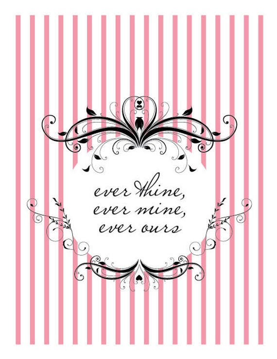 items similar to ever thine ever mine ever ours on etsy