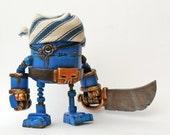 Rusty Robots Blue Piratebot ONE DAY SALE