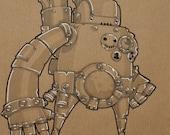 Robot Minion Original Illustration ONE DAY SALE