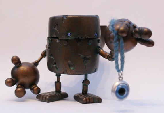 Steampunk Rusty Robots Show Special Reliquary Bot