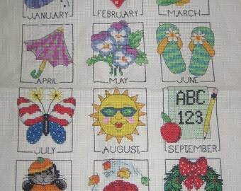 Holidays and Seasons of the Year, Cross Stitch, Handmade and Made to Order
