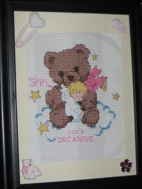 Multiple Styles: Baby Girl/Baby Boy Birth Announcements in Cross-Stitch-- Multiple Styles Available, Handmade (Made to Order)