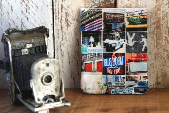 The Wandering Bag. Magnetic bag with New York City photos. NYC Icons. Multipurpose magnet bag. Fridge magnet bag. MB005.