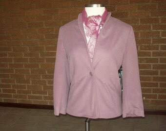 Vintage womens jacket 70s Spring Kashmiracle cotton candy pink pastel