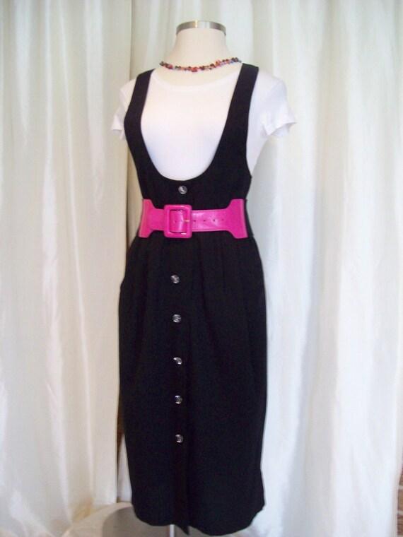 Vintage black jumper 80s Bedford Fair