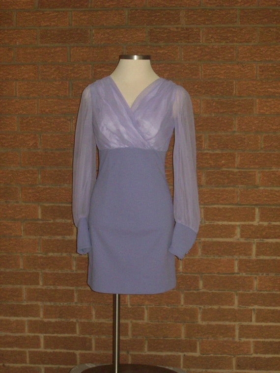 Vintage dress Claralura California lavender with vest