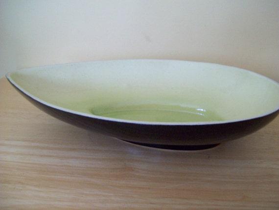 Vintage 50s dish National 406 black green