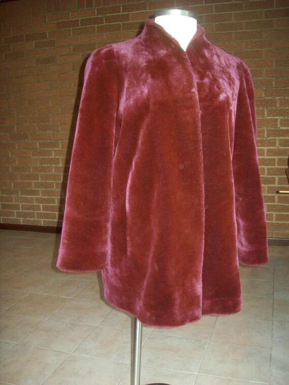 Vintage fur Borgessa purple jacket