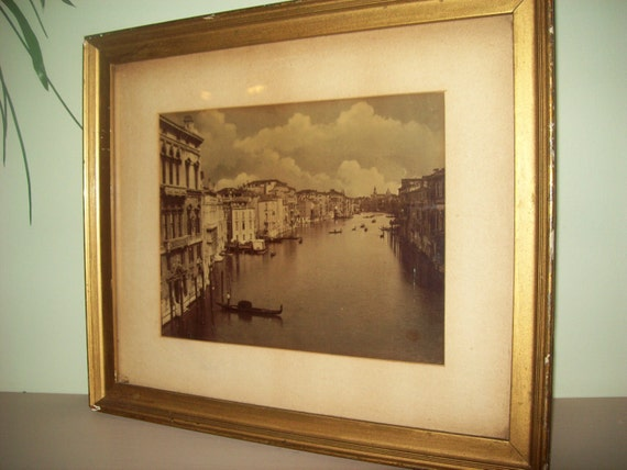 Vintage photograph Grand Canal Venice framed