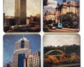 Pittsburgh Coasters, Set of 4 Coasters of Pittsburgh, PA