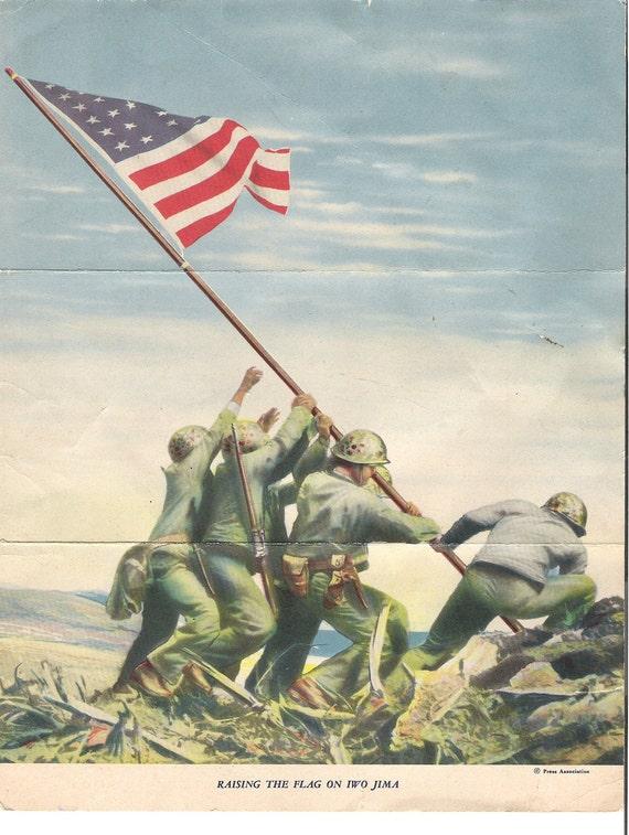 Iwo Jima War Loan Application Patriotic World War Two Paper Ephemera