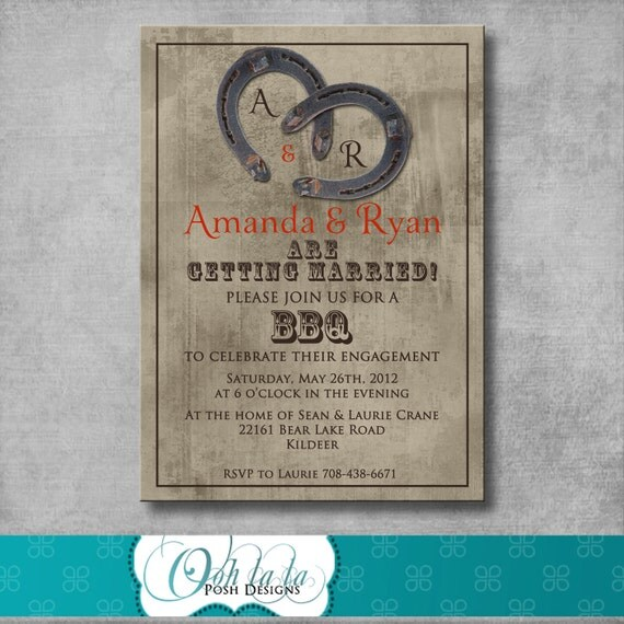 Items similar to printable western rustic engagement party for Etsy engagement party invites