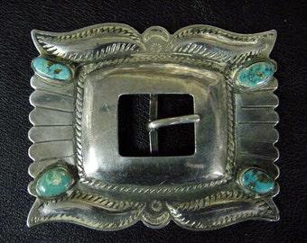 Vintage Pawn Native American Javajo Belt Buckel