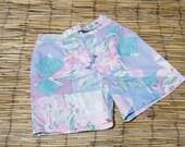 Vintage 1980's Floral High Waist Shorts