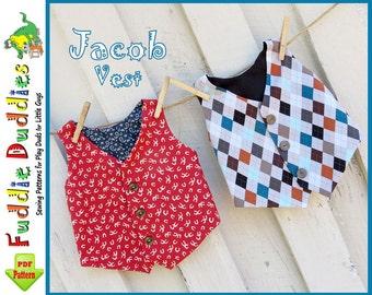 Boy's Vest Pattern, Toddler Pattern, Infant  Pattern, Boy's Sewing Pattern, Toddler Sewing Pattern
