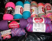 Big Lot of Varigated and Solid Yarns: New, unrolled.