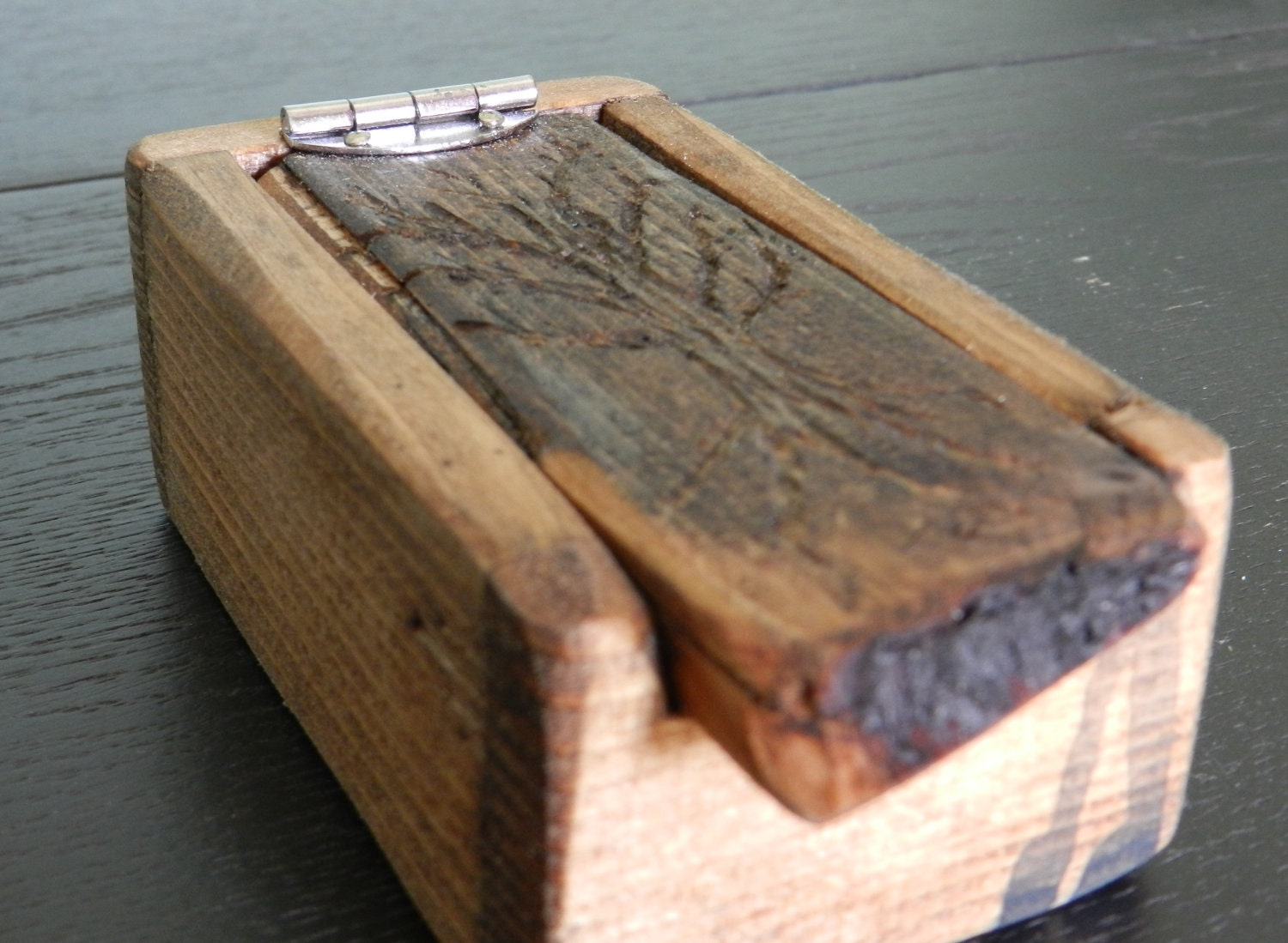 Small rustic wooden box with carved tree - Small rustic wooden boxes ...
