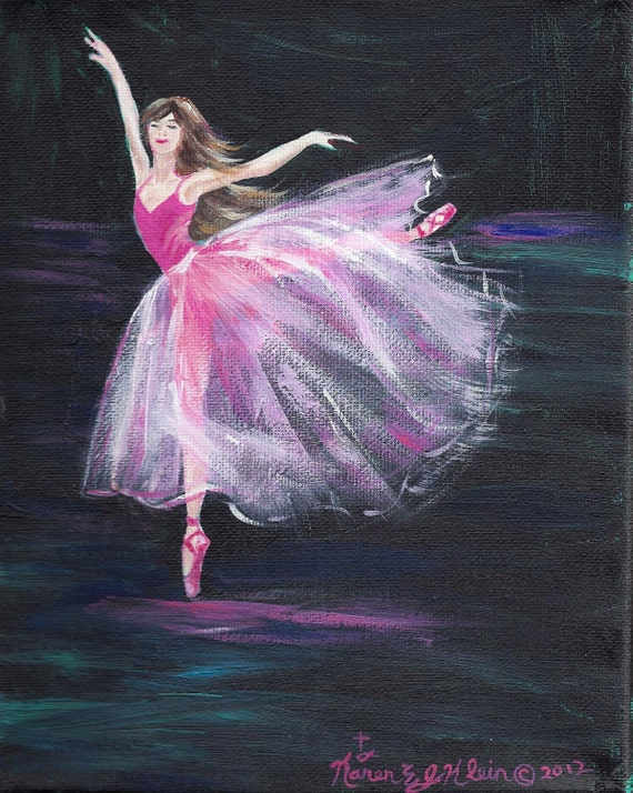 Dancing, an 8x10 acrylic painting on canvas