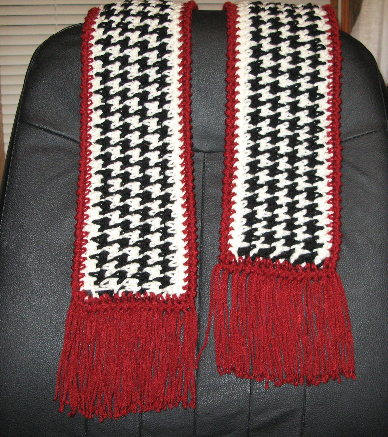 Houndstooth Scarf PDF Pattern to crochet by RitaGibson on Etsy
