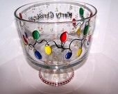 Merry Christmas Trifle Bowl