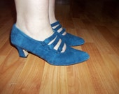 Blue suede shoes for women - size 7