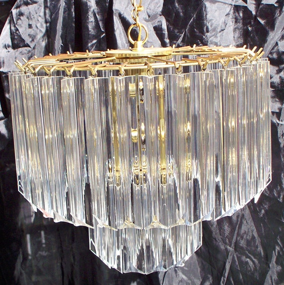 half off sale, Vintage swag 1970's Lucite and Brass Chandelier, Italy, mid-century modern light, 1960's lighting,