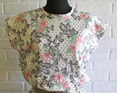 vintage 80's floral and paisley day dress