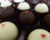 Custom listing for Elizabeth - Box of 6 Heart Truffles