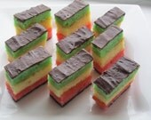RESERVED FOR SARAH - Italian Rainbow Cookies, Homemade tri-color Cookies - 1 dozen, Holiday Gift, Holiday Party